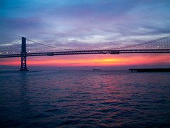 San Francisco Mornings (Thomas Hawk) Tags: america baybridge california sanfrancisco usa unitedstates unitedstatesofamerica bridge sunrise fav10 fav25 fav50 fav100