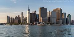 Skyline Sparkle (DSC04241) (Michael.Lee.Pics.NYC) Tags: newyork governorsisland ferry lowermanhattan battery harbor 17statestreet onewtc worldtradecenter sony a7rm2 voigtlandernoktonclassic35mmscf14