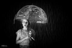 RAIN (salas-3) Tags: rain umbrella girl blackwhite black white warer drops photography creative dark light