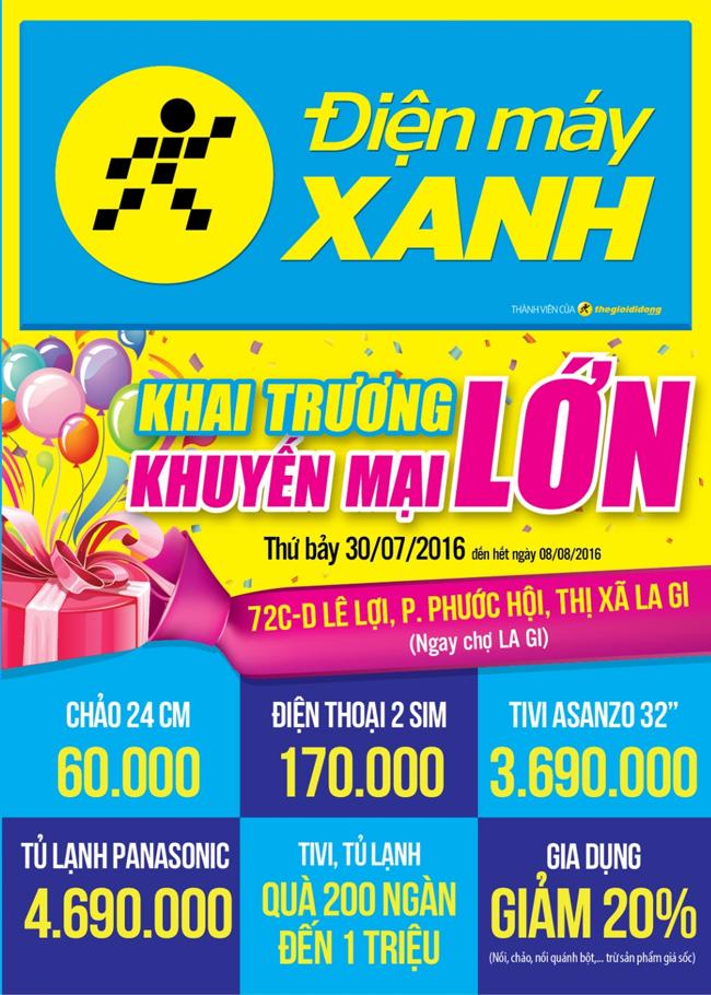 Khai trương siêu thị Điện máy XANH Lê Lợi, La Gi, Bình Thuận