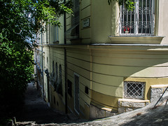 Making my way to the Duna.... (mikebakker2) Tags: budapest   hungary magyarorszg ungarn hungra ungheria hongarije   city urban urbanexploration exploring exploration architecture beautiful cityscape street stair stairs house houses building buildings tree trees quiet peaceful quietness peacefulness