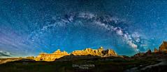 Badlands Under the Milky Way (Greg Lundgren Photography) Tags: night southdakota stars outdoors nationalpark badlands badlandsnationalpark rockformations milkyway