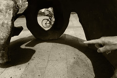 momentum (MO3PA) Tags: street unknowns candid luck clasico burgos spain composition sculture skull cyclist tyre