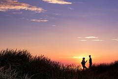 Spotted (Curtski22) Tags: blokhus denmark light ocean sea seaside shore silhouette sunset water