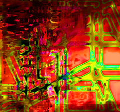 Caminos cortados (seguicollar) Tags: imagencreativa photomanipulacin artedigital abstracto abstraccin caminos cortados red rojo verde green virginiasegu