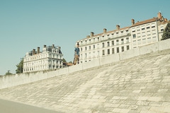 (Hugo Bernatas) Tags: life street france color photography frames skateboarding lyon sony some drop skate skateboard mm alpha 35 skatelife ilce7s