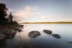 Rocks and water - Vlberg (- David Olsson -) Tags: vlber vrmland sweden lake vnern water rocks stones stenar smoothwater clouds afternoon landscape lakescape seascape nature outdoor le longexposure leefilters bigstopper ndfilter lenr blackglass 06hard gnd grad nikon d800 1635 1635mm 1635vr vr fx davidolsson 2016 june juni summer sommar
