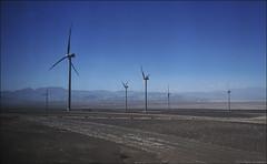 Molinos en el desierto. (antoniocamero21) Tags: atacama chile desierto paisaje atardecer color foto sony molinos viento azul cielo