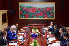 Secretary Kerry Addresses Chinese Foreign Minister Wang Yi and his Delegation at the National Convention in Vientiane (U.S. Department of State) Tags: johnkerry laos vientiane wangyi asean associationofsoutheastasiannations