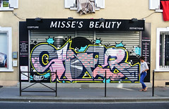 store Bois Colombes (SaNeR hVa KgB) Tags: aerosol art rue rideaudefer tag typo couleur bombe colors ptdq peinture painting lettrage letters lettres lettering kgb hva handstyle graff graffiti france fat fatcap devanture saner street store writing writer wildstyle can spray
