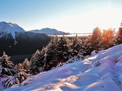 Good timing (flashmick) Tags: bruce mountains canterbury canterburynz snow morning sunrise tramping alpine newzealand