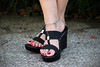 071016Downtown_7981 (WindJammer Photo) Tags: july 2016 canon 2470mml 60d outdoor portrait feet anklet toering sandal platform heel red nail polish