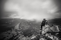 On the top of Errigal, Donegal, Ireland (Wojtek Piatek) Tags: climb mountain peak view panorama selfie ire ireland eire sony a99 alpha zeiss landscape blackandwhite mono rocks long exposure hike hiking