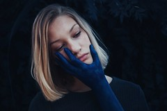 Feeling Blue (SheldynKay) Tags: self 365 blue selfpotrait surrealism darkphotography outdoor
