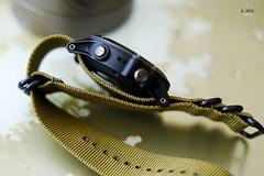 Putting on Nato strap (A. Wee) Tags: garmin fenix3 fenix smartwatch  natostrap