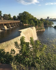 Went on a stroll by the Rideau Falls with the boy at sunset  (Nicole Amanda Photography) Tags: instagram wedding photographer ottawa weddingphotographer photography blog engaged square went stroll by rideau falls with boy sunset
