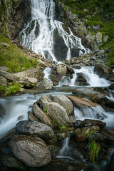 Balea Watterfall (CreArtPhoto.ro) Tags: grass waterfall balealac rocks water mountains cascadabalea green beautiful smooth flowing transfagarasan