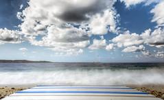 Sulla spiaggia (Giuseppe Tripodi) Tags: beach longexposition clouds sea coast