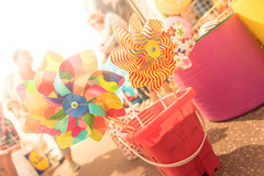 Summer Holidays (SimonTHGolfer) Tags: summer warmth warm beach pinwheel bucket daytime essex clacton holiday vacation simontalbothurnphotography low lowpov