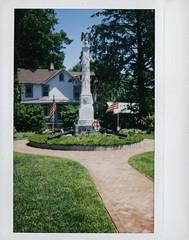 war memorial (BehindBlueEyes) Tags: newjersey nj hightstown mercercounty film fujiinstax210 instantnj traskavenue