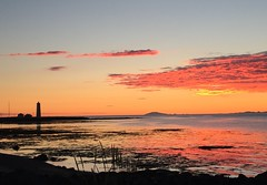 Grótta lighthouse Seltjarnarnes (unnurol) Tags: iphotoiphotograghy sunsetgróttavitiyellowredblueoceanlighthouseseltjarnarnesicelandsólarlag