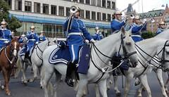 Trumpeters on horseback (bokage) Tags: sweden stockholm bokage changeofguard vaktparaden riding horse soldier uniform