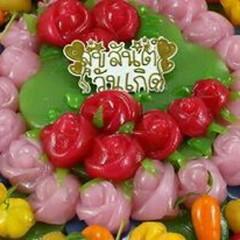 ขนมเค้กวันเกิดแบบไทย