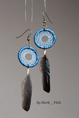Earrings dreamcatchers (Shurik_Viola) Tags: blue bronze handmade feathers feather earring jewelry bijoux jewellery handcrafted earrings boho ethnic americanindian dreamcatcher plumes objets plume artisanat amerindian personnages bouclesdoreille amrindien dreamcatchers bohme faitmain ethnique attraperve attraperves shurikviola
