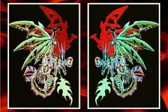 Mech Dragons Pastel (Shawn Dall) Tags: ontario canada abstract black art fashion tattoo illustration ink painting landscapes chalk rainbow gallery dragon mechanical god sale spirit pastel patterns fineart hamilton dragons buy shawn spirituality spiritual artforsale mythology consciousness mech chaser bookend artcollect chronamut