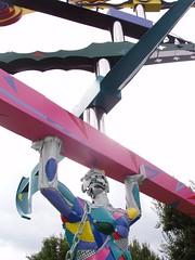 Landschafts Park kinetische Skulptur Jongleur (mo_metalart) Tags: park skulptur jongleur kinetische landschafts