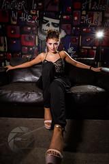 Miss Diamond (iamrtl) Tags: lighting canon model makeup sofa northernireland femalemodel spraypaint ulster mua rimlight t13 oldsofa strobist graphittti girlonsofa canon5dmkiii 5dmkiii t13belfast g4photography phithupia