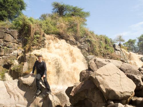Thierry à Awash waterfalls