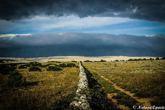 Every Cloud Has A Silver Lining [Explored 02/05/15] (_Natasa_) Tags: travel blue cloud storm green art nature stone wall clouds canon landscape island croatia stonewall pag hrvatska velebit canonef24105mmf4lisusm islandofpag povljana canoneos7d natasaopacic natasaopacicphotography