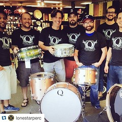 #Repost @lonestarperc with @repostapp. ・・・ Q Drum Co Day! @qdrumco #qdrumco great drums awesome drum builders. Order your new Q kit today.  Call us 1-866-792-0143. #wespeakdrum