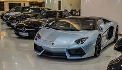 Supercar lineup. (TAF27) Tags: blue light silver mercedes benz 63 mercedesbenz lamborghini riyadh supercar thetis avy sls amg exotics supercars lineup roadster v12 merc ksa lambo sclass avent azuro s63amg w222 aventador slsamg lp700 lp7004 aventadorlp700 s63coupe azurrothetis whileitsa62lol