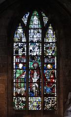 Vitrail des saints, église Notre Dame de Carentan, Manche (Selbymay) Tags: vitrail manche baie 2015 verrière carentan