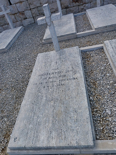 Monte Cassino - the Polish cemetery - gravestone, 72 years to the day