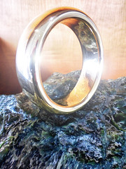 One Ring to Rule Them All (Steve Taylor (Photography)) Tags: wood newzealand art rock metal digital gold one design ring lensflare nz southisland lordoftherings tolkien torulethemall