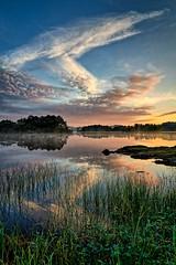 Storavatnet, Norway (Vest der ute) Tags: g7x norway rogaland ryksund clouds reflections mirror sunrise waterscape fav25 fav200