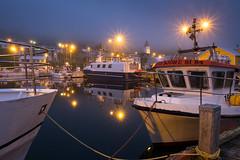 Foggy night at the dock (bjornvald) Tags: siglufjrur iceland northiceland fog night dock