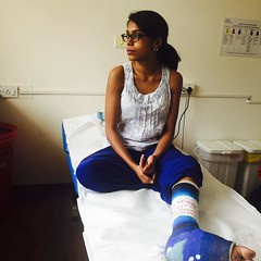 13256044344 (cb_777a) Tags: broken leg ankle foot cast crutches toes india