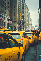 New York taxis (Marie Audo) Tags: nyc newyork taxis