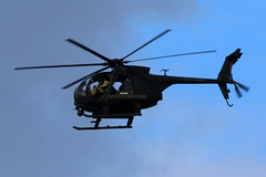 MH-6 Little Bird (Jacek W) Tags: bird night army force little air united royal stalkers states raf soar leeming mh6