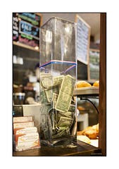 Tip Jar No. 5, La Boulangerie Lopez, Brooklyn (Jack Toolin) Tags: money coffee class tips economy economics cafes tipjar tipjars classstruggle serviceeconomy jacktoolin