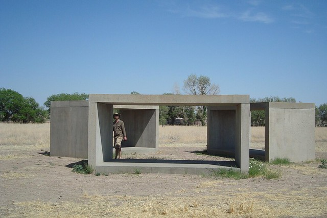 Donald Judd sculptures