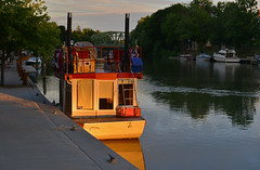 Vacation Boat (dr_marvel) Tags: boat vacation canal pittsford rochester newyork ny water waterway sunset light spotlight erie eriecanal travel boating