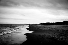(Ails N hgeartaigh) Tags: world ireland sea blackandwhite bw seascape beach water zeiss landscape sand europe noir earth sony atmosphere land conceptual za wexford blanc a7 atmospheric