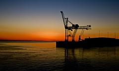 Sunset (heiko.moser) Tags: sunset sonnenuntergang bremerhaven color hafen habor canon meer sea landschaft landscape sun sonne heikomoser natur nature natura