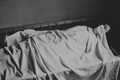 (corpusvertebrae) Tags: woman lying death obscure grave morgue anxiety bw blackandwhite darkness fear solitude sleep nightmares