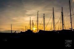 DEU-HRO-22 (Krisrupp) Tags: sunset dusk deu de siloutte sonnenuntergang hafen deutschland marina waterfront seascape hro rostock stadthafen